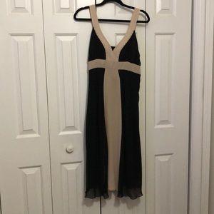 Pretty beige and black dress
